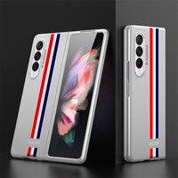 Ultra-delgada duro caja del teléfono para Samsung Galaxy plegado Z 3 protección completa Delgado caso de negocios para Z Fold3 Anti-caída cubierta protectora