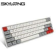 SKYLOONG SK68 PCB لوحة المفاتيح الميكانيكية سماعة لاسلكية تعمل بالبلوتوث الألعاب لوحة المفاتيح الساخن قابلة للتبديل ABS كاي كابس انفصال كابل ل Win/Mac