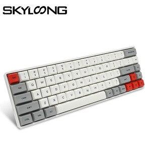 Image 1 - Skyloong SK68 pcbメカニカルキーボードワイヤレスbluetoothゲーミングキーボードホットスワップ可能なabsキーキャップ着脱式ケーブルのためのwin/mac版
