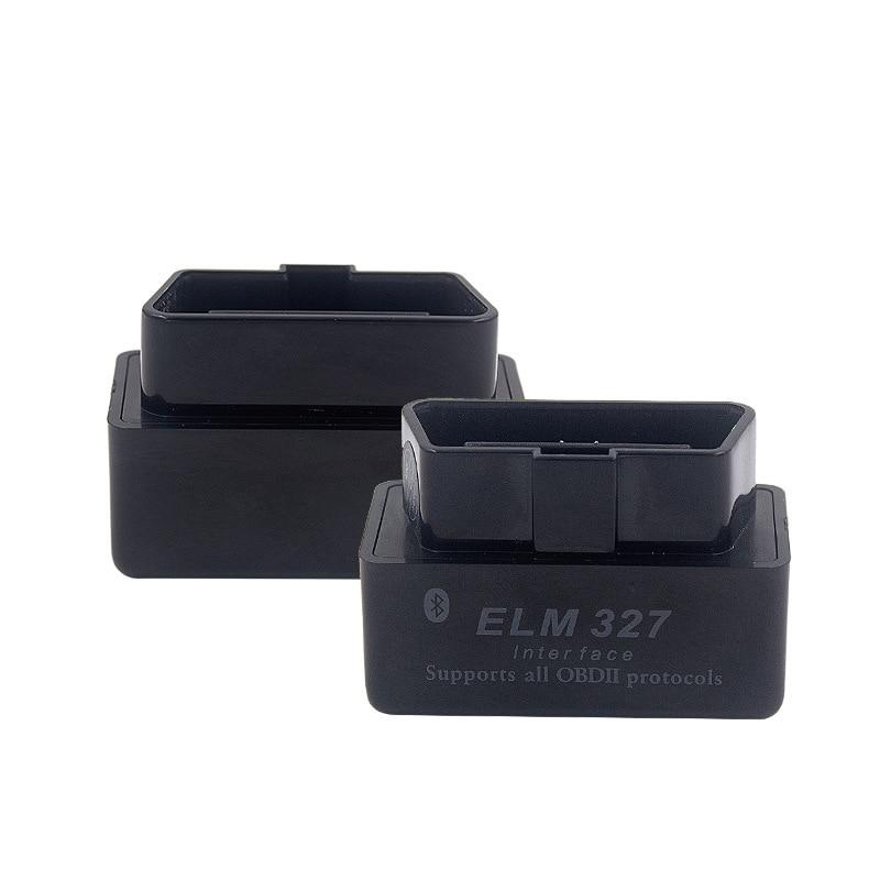 Черный сканер OBD2 для Ford Hyundai Kia Opel Alfa VW Audi BMW V2.1 ELM327 интерфейс Bluetooth OBDII сканер автомобильный диагностический инструмент