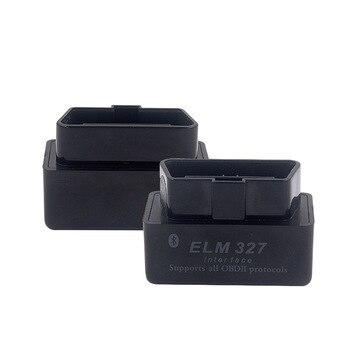 Черный OBD2 сканер для Ford Hyundai Kia Opel Alfa VW Audi BMW V2.1 ELM327 интерфейс Bluetooth OBDII сканер автомобильный диагностический инструмент