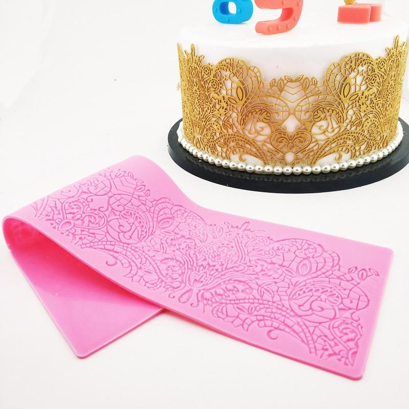 European Style Lace Mold Silicone Sugar Lace Pad Cake Brim Decoration Mold Kitchenware DIY Tool K659|Cake Molds| |  - title=