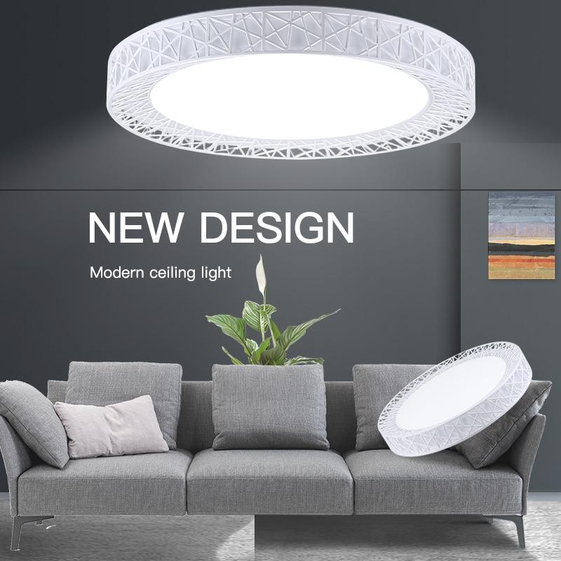Lampy sufitowe LED lampy sufitowe montowane na powierzchni 220V 16W 30W 50W 70W wymienne lampy panelowe do domu oświetlenie kuchenne