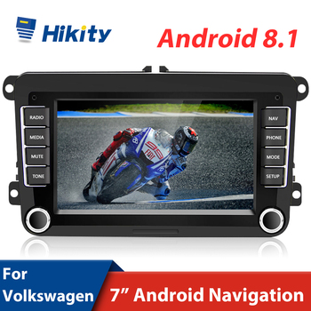 "Hikity 2+32GB Car Radio 2 Din Android 8.1 Car Multimedia player 7"" GPS Car Autoradio Radio For VW/Volkswagen/Golf/Polo/Passat image"