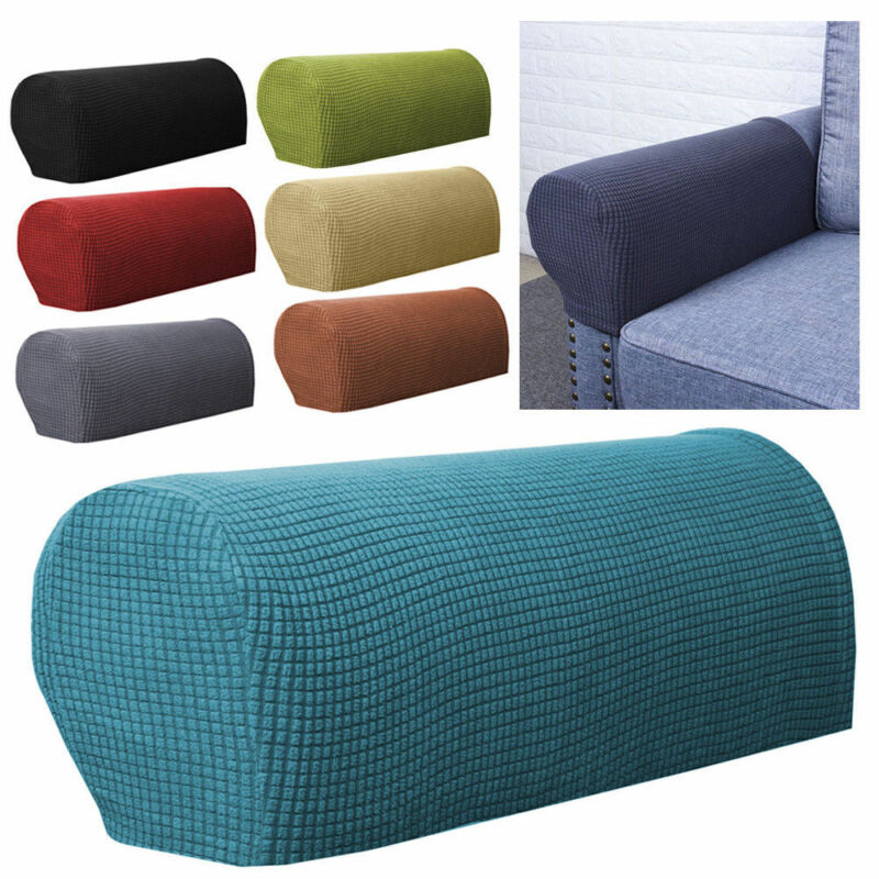 Spandex Stretch Armrest Covers Set of 2 Couch Armchair Arm Protector Green