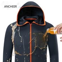 Гидрофобная ледяная шелковая мужская одежда для рыбалки походные куртки с капюшоном водонепроницаемые быстросохнущие куртки