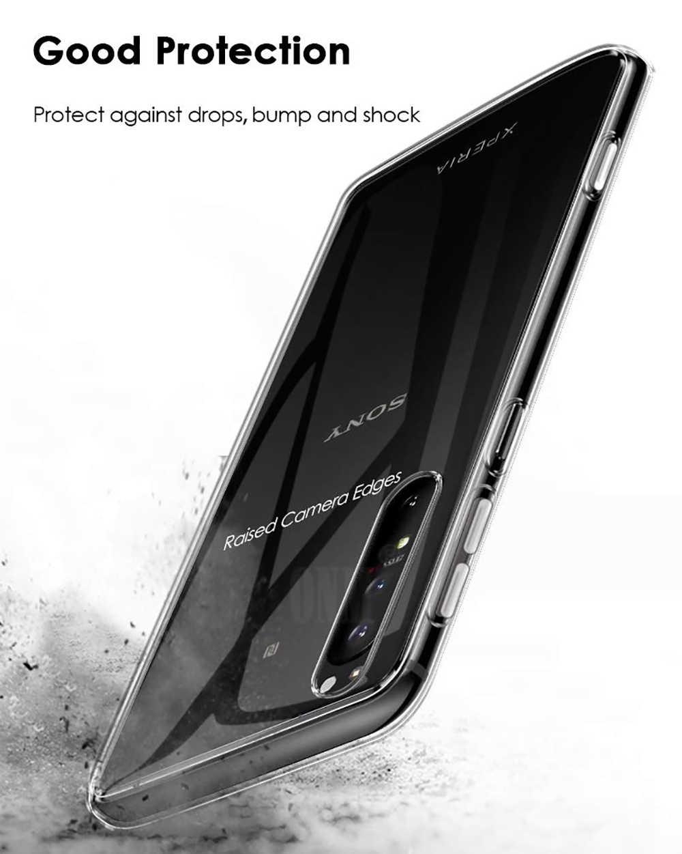 עבור Sony Xperia 1 השני Xperia אחד סימן שני Slim קריסטל ברור שקוף רך TPU בחזרה מקרה הגנת עור מצלמה להגן על כיסוי