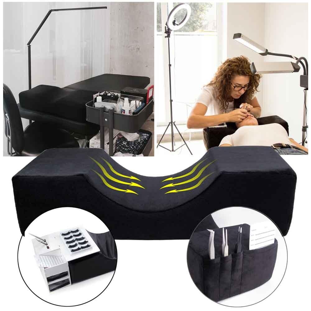 Lash Pillow For Eyelash Extensions Grafting Eyelashes Memory Foam Curve Neck Eyelash Extensions Pillow Beauty Salon Makeup Tool