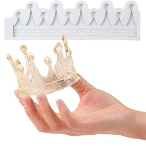 Silicone Fondant Molds 3D Crown Shape Chocolate Molds Sugarcraft Candy Mold Gumpaste Mould Cake Decoration Tool Cupcake Topper