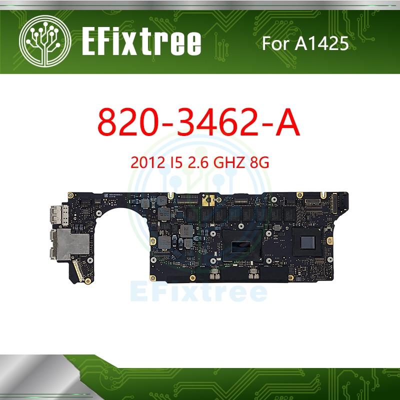 Placa base probada A1425 para Macbook Pro Retina 13,3 I5 2,6 GHz 8GB placa principal lógica 820-3462-A finales de 2012 A principios de 2013