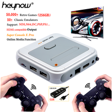 HEYNOW HD 4K TV Video Super Game Console X Pro For PS1/N64/DC 50+ Emulators 50000+ Games 256GB S905X CPU Mini X-Pro Game Player