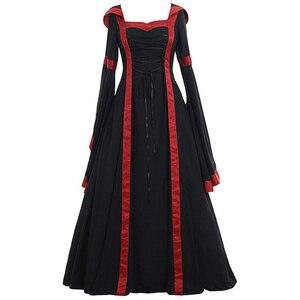 Image 5 - Средневековые маскарадные костюмы для женщин на Хэллоуин, карнавал, средний возраст, сценическое представление, готическое ретро платье Виктории, S 5XL
