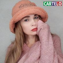 Cartelo nowe damskie czapki zimowe marka design modne kapelusze damskie wysokiej jakości ciepłe i aksamitne wełniane modne czapki damskie regulowane tanie tanio Z wełny Dla dorosłych CN (pochodzenie) WOMEN Mieszkanie Stałe dasa Wiadro kapelusze Na co dzień