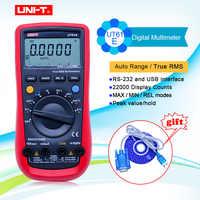 UNI-T UT61E multimètre numérique gamme automatique vraie RMS UT61A/B/C/D données maintien Diode test buzzer continuité Multimetro + cadeau