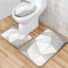 Marble toilet cushion set, 3-piece set, anti slip, cushion, toilet cover, toilet seat