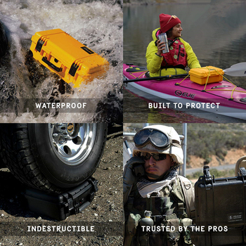ABS Plastic Waterproof Dry Box Safety Equipment Protective Case Portable Tools Outdoor Survival Toolbox Anti-collision Container