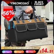 YINLONGDAO sac à outils de grande capacité, sac délectricien multifonctionnel, sac à bois Anti chute et résistant à lusure