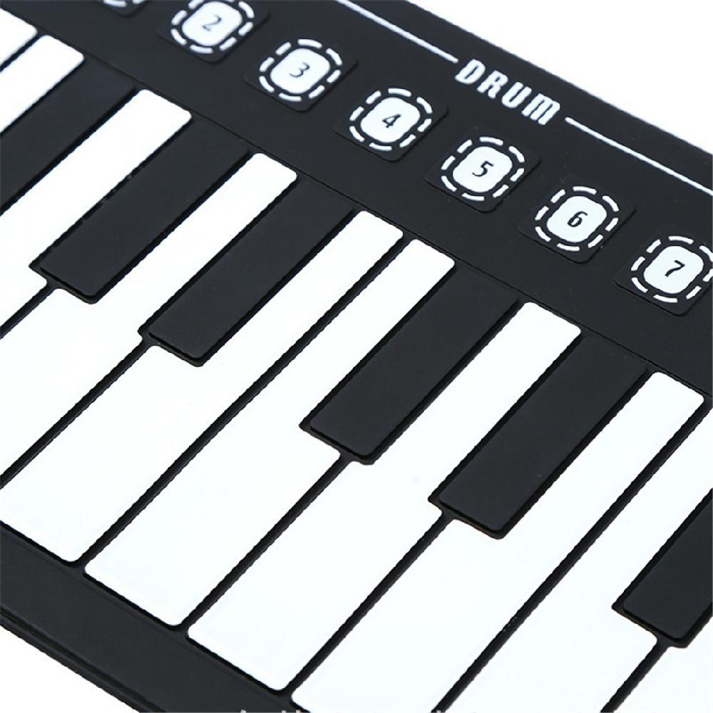 Anyutai Piano Electrico Teclado Piano Enrollable Piano Portatil Enrollable 49 Teclas Con Bocina Enrollada Plegable Portátil Seguro Y Duradero Con Altavoces Carga Usb Para Niños Principiantes Pianos Digitales Unifytulum Instrumentos Musicales