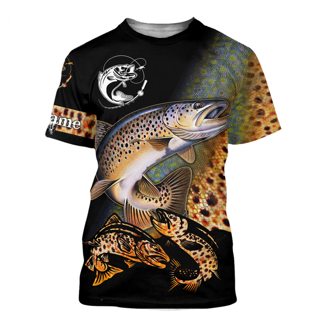Rainbow trout Fishing T Shirt All Over Print