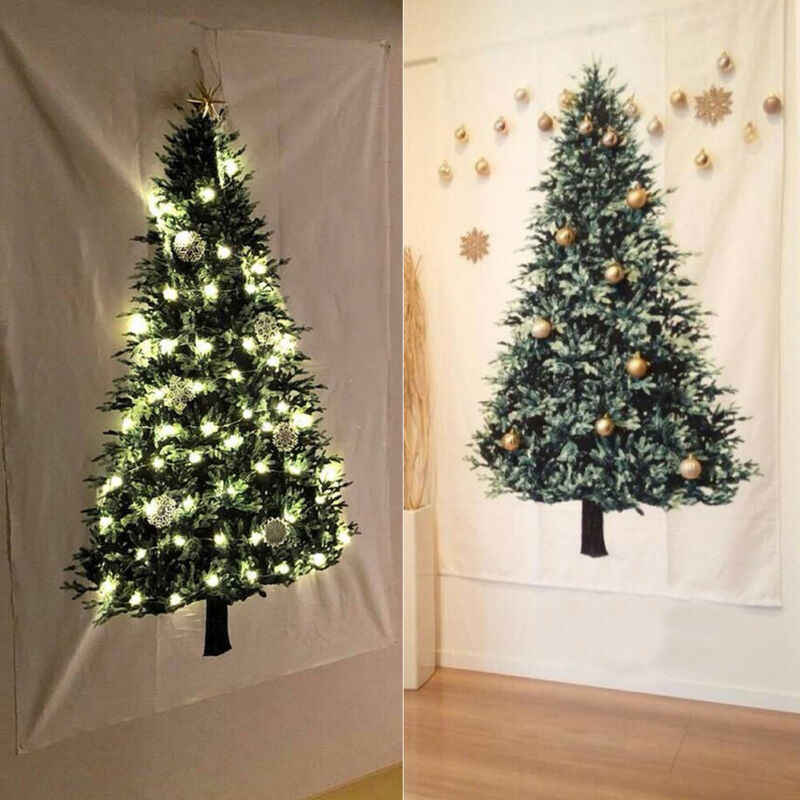 Christmas Tree Tapestry Ornament Vintage Holiday Art Wall Hanging Christmas Tree Pine Tarpaulin Home Indoor Bedroom Decoration Decorative Tapestries Aliexpress