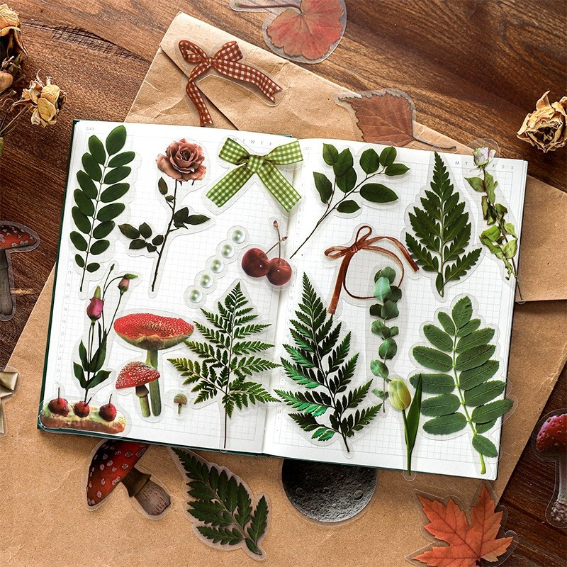 30pcs/pack Plants Planet Transparent Stationery Sticker Planner Scrapbooking Diary Deco School Offic