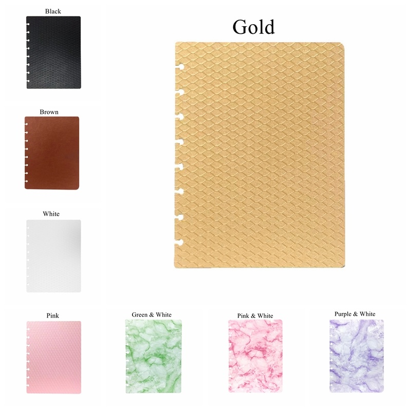 A5 16*22cm/6.3*8.6inch 8 Mushroom Holes Notebooks Cover Set 2pcs(front+back) 18 Colors Options LF19-288