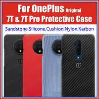 Stock HD1903 Official BOX Oneplus 7T Case 100% Original (Bulk Prices) Oneplus 7T Pro Silicone Nylon Sandstone Karbon Cover