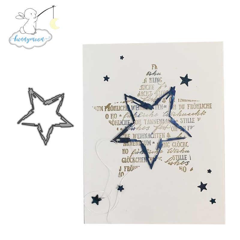 CH Pentagram Metal Cutting Dies 3D DIY Scrapbooking คาร์บอน SHARP CRAFT Die Photo เชิญการ์ดตกแต่ง