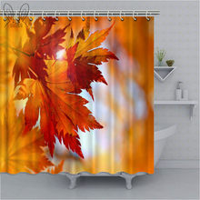 Herfst Maple Leaf Douchegordijn Nordic Stijl Plant Print Waterdichte Badkamer Gordijn Polyester Bad Gordijn Baden Sets(China)