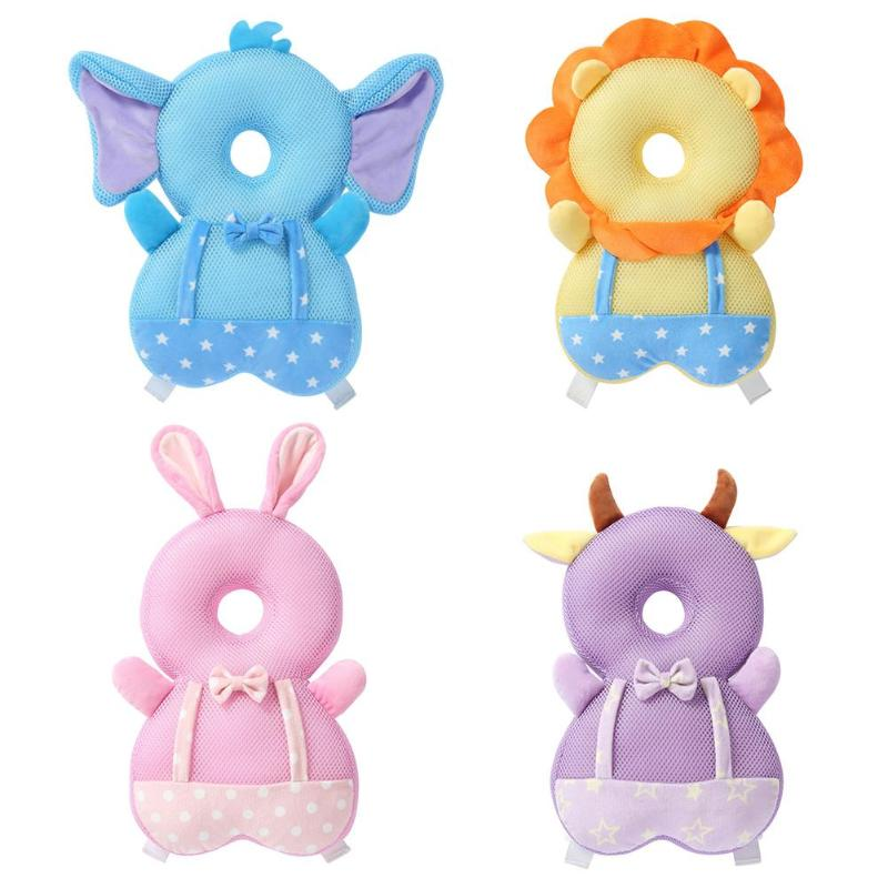 Toddler Baby Head Back Protector Safety Mat Pillow Infant Toddler Harness Headgear Bear Rabbit Baby Head Protection Cushion