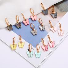 Женские серьги рождественские милые украшения в виде бабочки