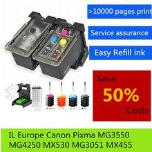 цена на Free shipping , PG540 CL541 Refillable Ink Cartridges For PIXMA MG3250 MG3255 MG3550 MG4100 MG4150 MG4200 MG4250