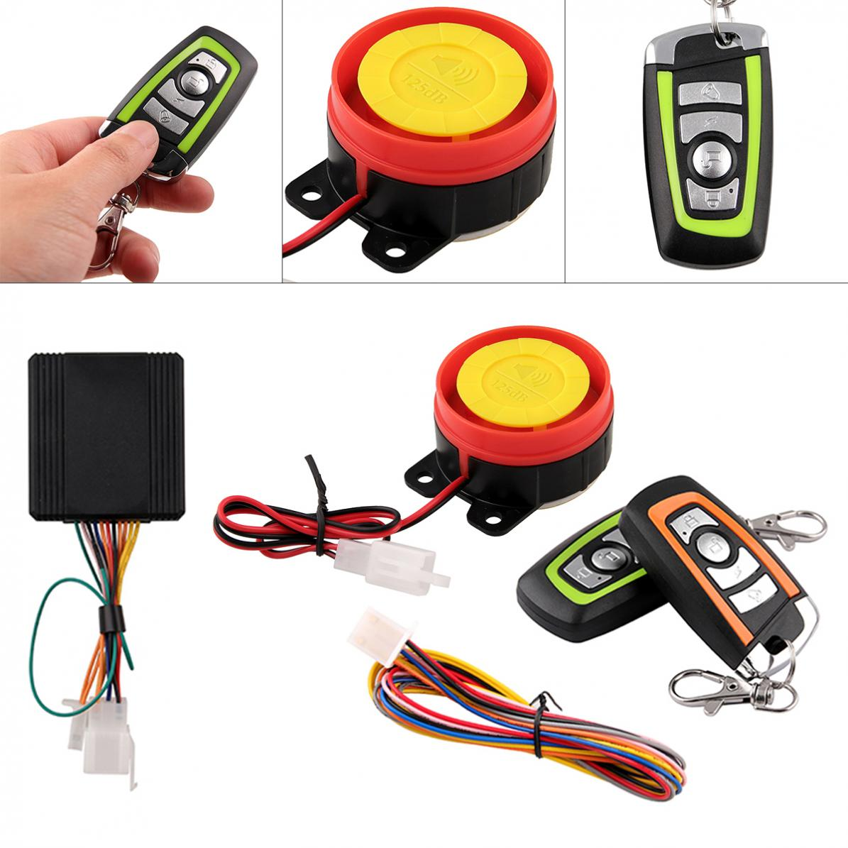 125db Motorcycle Two Way Burglar Alarm Anti-theft Alarm With Engine Start Remote Control Key For Motorcycle Anti-theft System