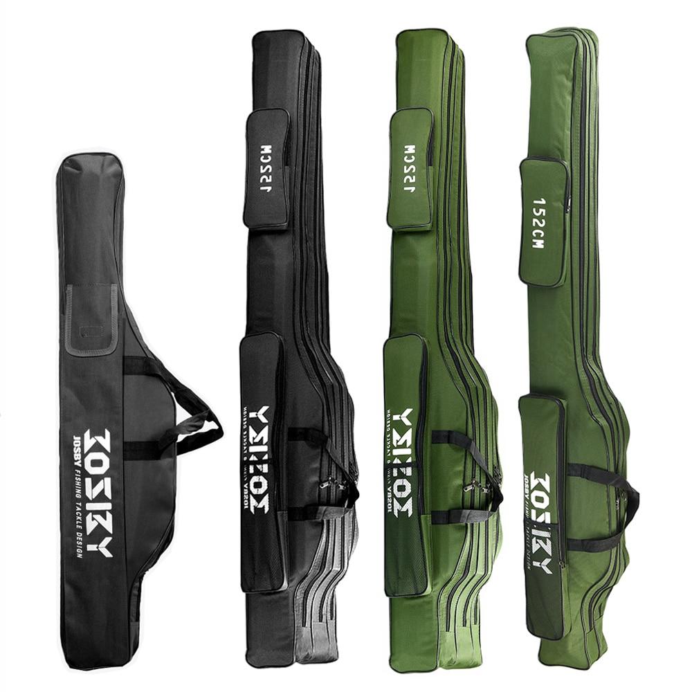 Fishing Rod Storage Bag  Oxford Cloth Multifunctional  1/2/3 Layer Black / Green