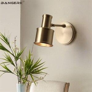 Lâmpadas de Parede de Luxo americano Loft Decoração Ajustar a Luz LED Wall Luminária de Iluminação Modernas Luzes de Parede de Cabeceira Sconce Cobre Casa|Luminárias de parede| |  -