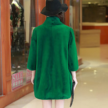 Faux Fur Coat Women Winter Jacket Plus Size Warm Soft Long Coats Outerwear Green Women's Clothing Casaco Feminino KJ298(China)