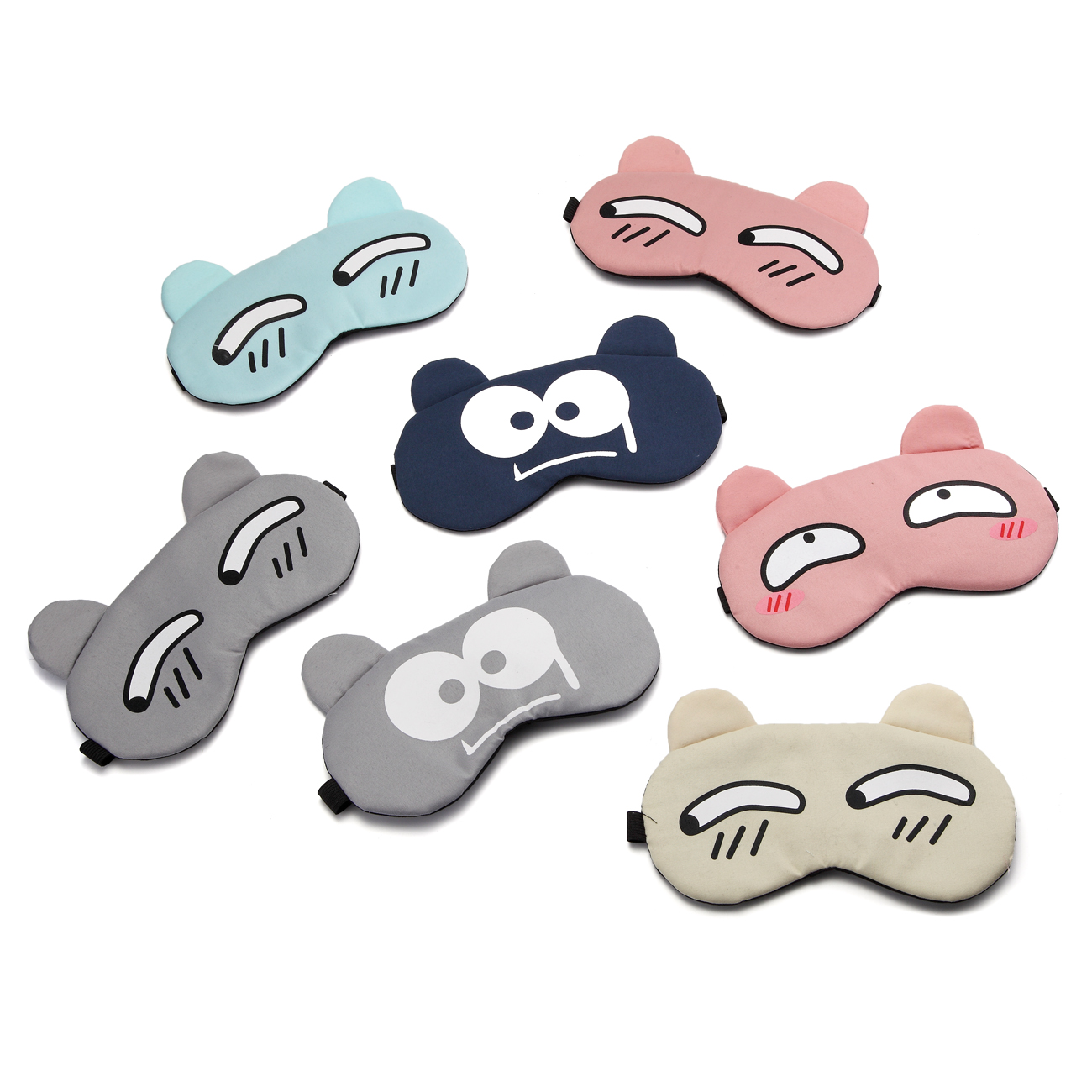 Cartoon Sleeping Eye Mask Cotton Eye Cover Sleeping Mask Eyepatch Cute Sleep Mask Travel Rest Eye Band Kids Eye Shade Blindfold