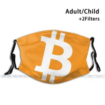 Bitcoin Cryptocurrency Mask Anti Dust Filter Print Washable Mask 1