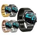 Pulseira de relógio para huawei relógio gt2 46mm pulseira de relógio inteligente para gt 42mm borboleta aço inoxidável fivela loop 22mm pulseira de substituição