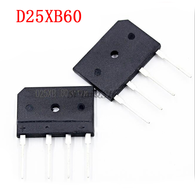 5 ピース/ロットD25XB60 D25SB60 D25XB80 D25SB80 25A 600v/800v電源ブリッジ整流器