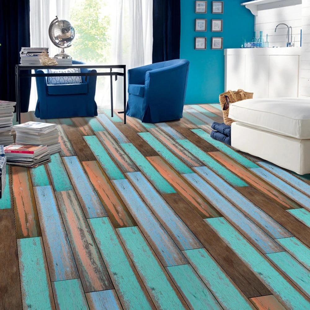 Home Decor Self Adhesive Floor Tile Simulation Wood Sticker Living Room Kitchen Bathroom Uk Home Garden Ideahome Gr