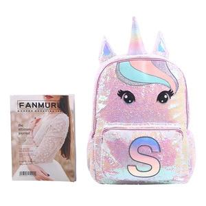 Image 5 - Sequin Unicorn School Bags Large Capacity Unicorn Backpacks for Girls Pink Mochila Escolar Childrens Backpack Kids School Bags