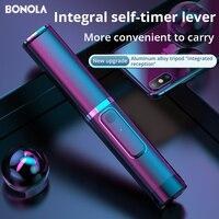 Bonola Portable Integrated Tripod Selfie Stick Hidden Phone Bracket Bluetooth Button Phone Self-timer Lever Holder For Phone