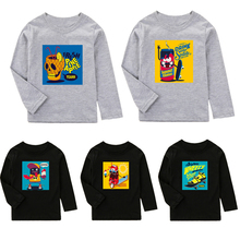 2-10T Kids T-shirt 2019 Boys Clothes Girls Sweatshirt Autumn Winter Children Clothing Cartoon Printed Long Sleeve Girls Tops недорого
