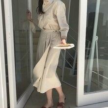 Осеннее женское длинное платье с длинным рукавом однобортная туника для отдыха винтажный пояс отложной воротник Ретро повседневные плиссированные платья