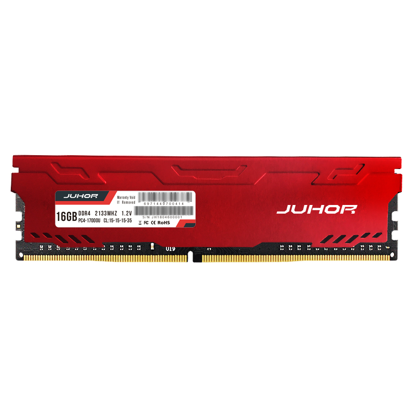 JUHOR memoria ram ddr4 16GB 4GB 8GB  32GB Desktop Memory  udimm 2133mhz 2400mhz 2666mhz New dimm rams with  Heat sink 3