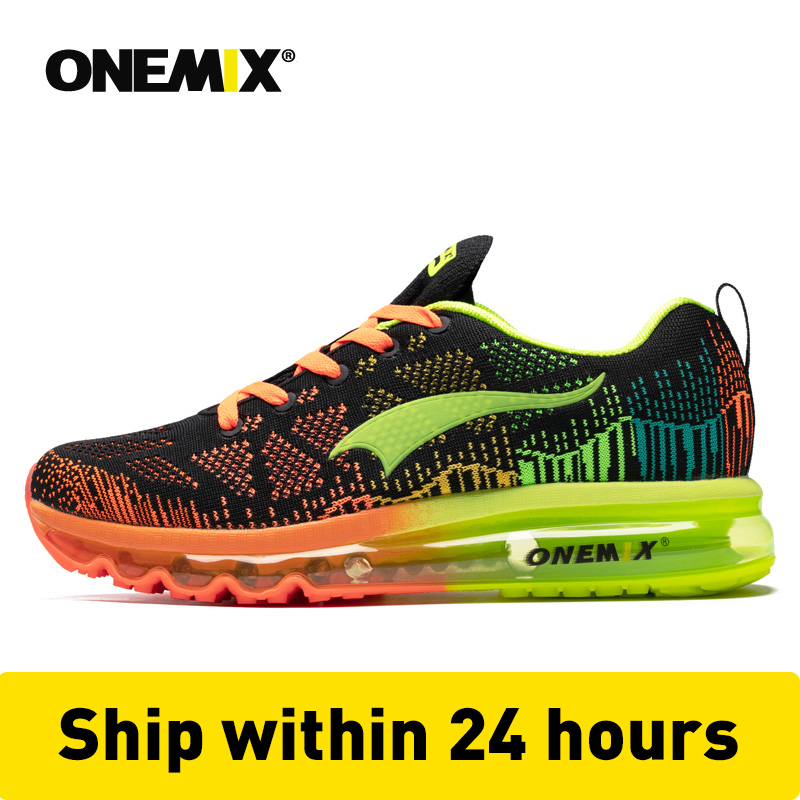 US $46.8 48% OFF|ONEMIX męskie sportowe buty do biegania muzyka rytm męskie trampki oddychająca siatka odkryty lekkoatletyczny lampka na buty męskie