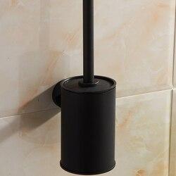 Styl amerykański łazienka akcesoria do montażu na ścianie czarny brąz toaleta wc uchwyt na szczotki|Półki i stojaki|Dom i ogród -