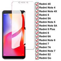 Vetro temperato 9D per Xiaomi Redmi 5 Plus 4X 5A 6A 7A S2 Go pellicola proteggi schermo Redmi Note 5 5A 6 7 Pro pellicola protettiva in vetro