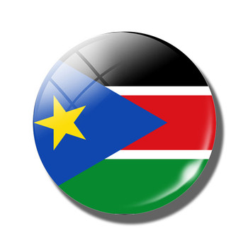 The Republic of South Sudan Flag Handmade Glass Cabochon Crystal Souvenirs Magnet for Fridge Decor Magnetic Refrigerator Sticker image
